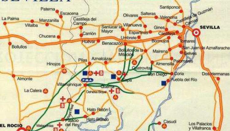 Planos de los caminos al Rocío