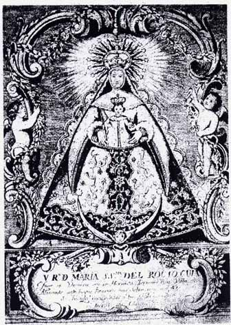 Grabado del Vizconde de La Palma. S. XVIII