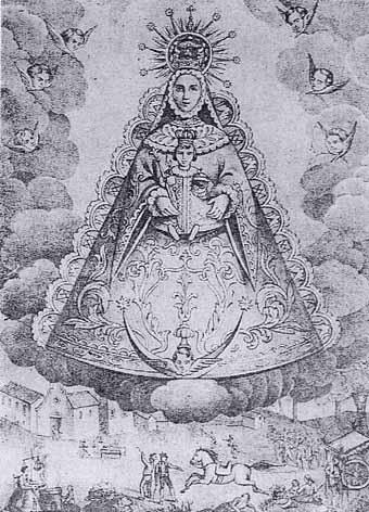 Litografía de Mitjana, Málaga. S. XIX