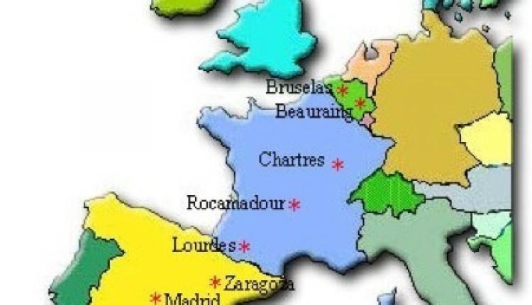 Camino Europeo del Rocío Etapas Europeas