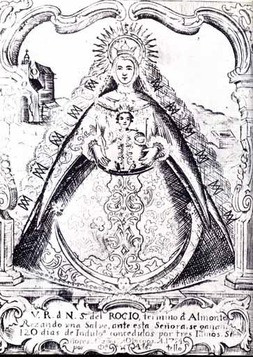 Grabado de Alonso Tello, 1754