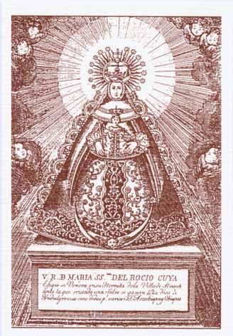 Grabado de la Biblioteca del Arzobispado de Sevilla. S. XIX.