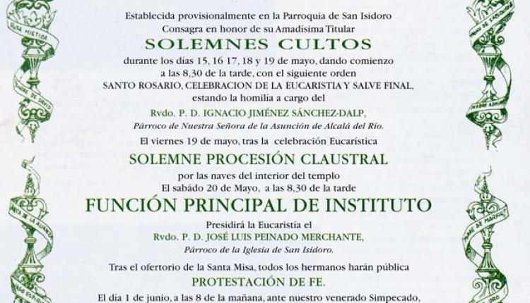 CULTOS HDAD DE SEVILLA – EL SALVADOR