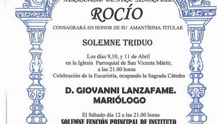 TOCINAS – Solemnes cultos