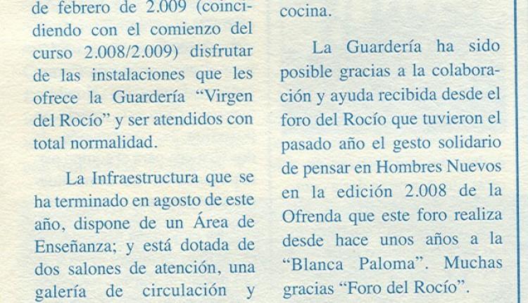 Finalizada la Guardería en Montegrande -Bolivia