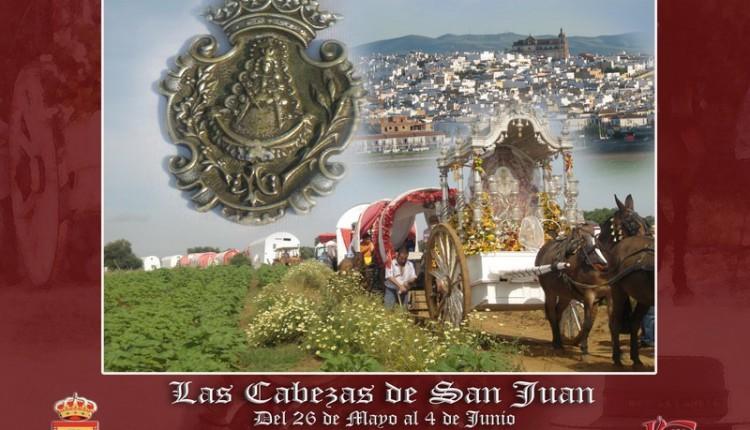 Las Cabezas de San Juan – Cartel anunciador de su peregrinacion a la aldea del Rocio