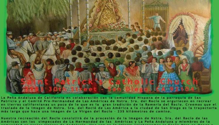 La Hermandad de las Américas se une a La Peña Andaluza para celebrar El Rocio de San Diego