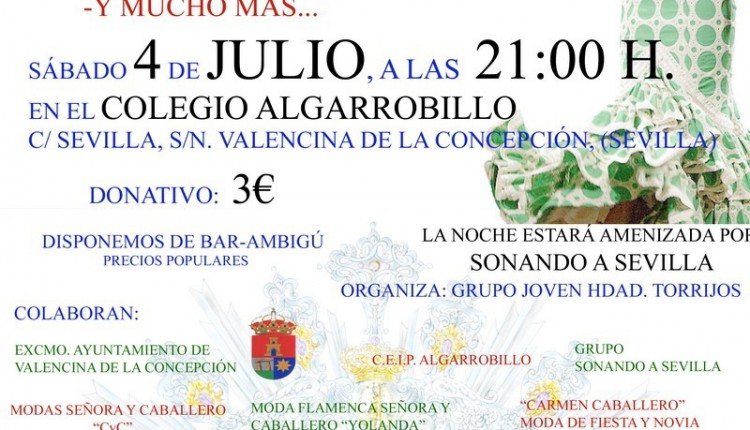 Valencina de la Concepción – Desfile de Moda a beneficio de la Coronación de Nuestra Señora de la Estrella