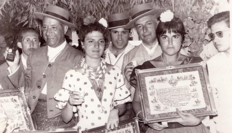 Entrega de nombramientos en la Hermandad de Sevilla El Salvador año 1961