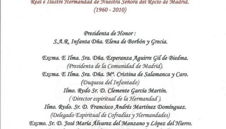 El Coro rociero de la Hermandad de Ntra.Sra.del Rocío de Madrid cantará El Rosario de la próxima Romería de 2010