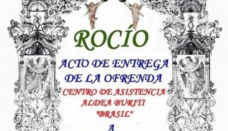 Acto de entrega de la Ofrenda del Foro Rocio.com en la Ermita de Ntra. Sra.
