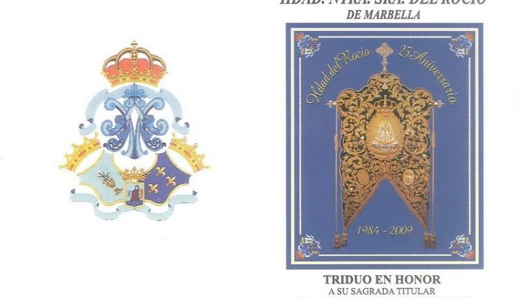 Hermandad de Nuestra Señora del Rocio de Marbella – Triduo Extraordinario en conmemoración a su 25 aniversario