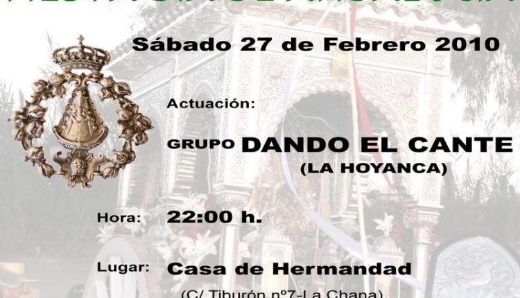 Hermandad de Granada – Actuacion beneficia del grupo DANDO EL CANTE