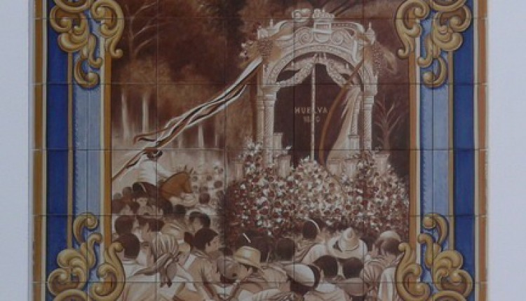 Hermandad de HUELVA – Inauguracion de retablo y murales de ceramica en su Casa en El Rocío