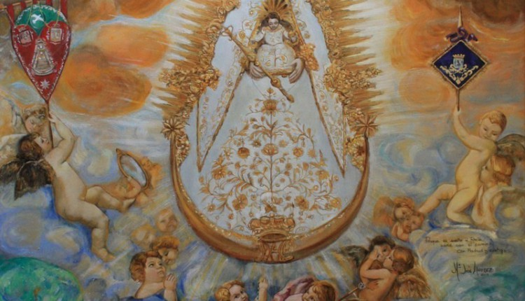 Presentación Oficial del Cuadro Conmemorativo de la Quincuagésima Peregrinación a El Rocío de la Hermandad de Nuestra Señora del Rocío de Madrid.