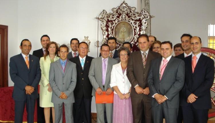 Toma de posesión de sus cargos los Hermano Mayores para Romería del Rocío del 2011 de la Primera y Más Antigua Hermandad del Rocío de Villamanrique de la Condesa