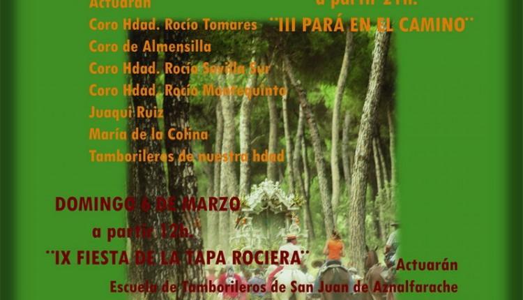 Hermandad de Nuestra Señora del Rocío de San Juan de Aznalfarache – Actos fin de semana