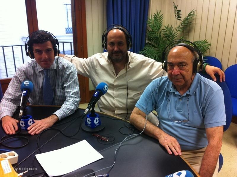 Santiago Padilla, Antonio Mª Lebreros y Diego Ramírez en el programa del 1 de junio