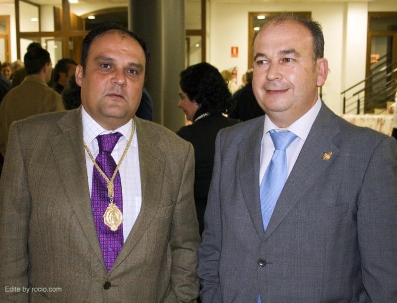 El actual Presidente José Joaquín Gil con Manuel García