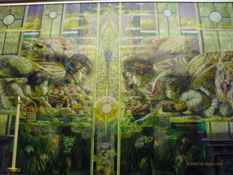 Mural derecho de la Capilla Sacramental, obra de José Antonio García Ruiz