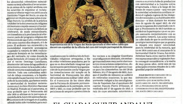 Artículo de Julio Mayo en ABC – El Rocío en la guerra de la Independencia