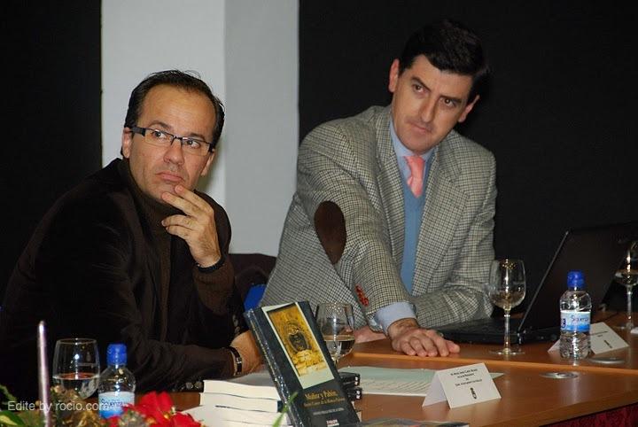El alcalde de Hinojos, Miguel Angel Curiel y Santiago Padilla