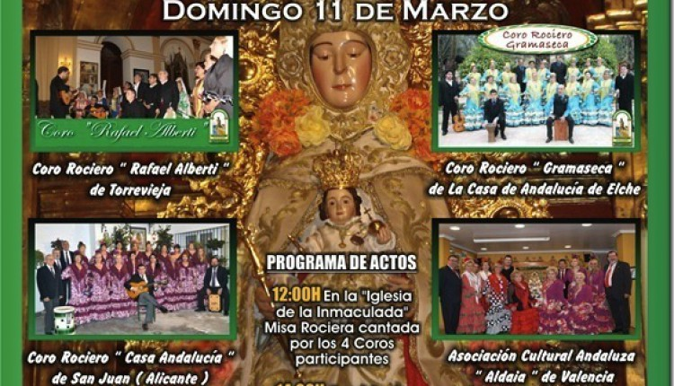 Casa de Andalucía de Torrevieja – V Encuentro de Coros Rocieros