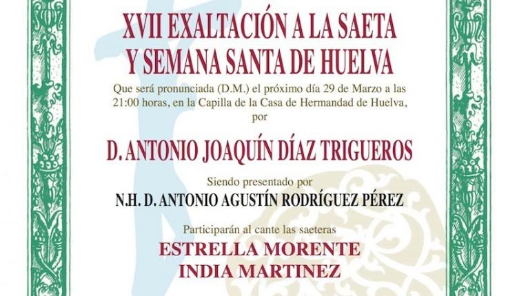 Hermandad de Huelva – XVII Exaltación a la Saeta y la Semana Santa