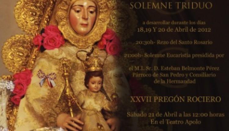 Hermandad de Almería – SOLEMNE Triduo