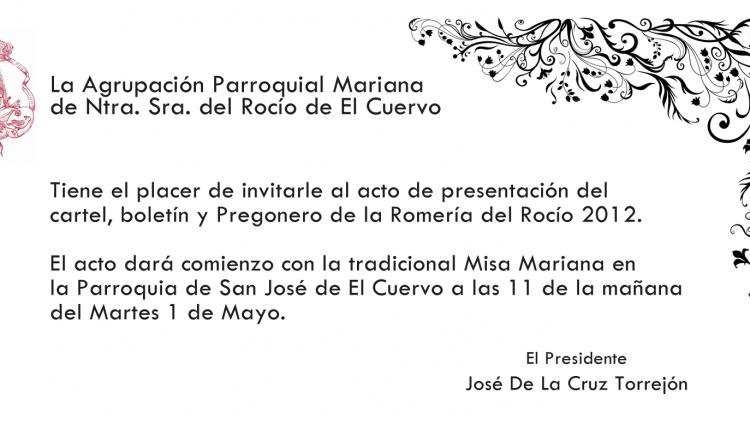 Agrupación de El Cuervo – Cartel, Boletín y Pregón