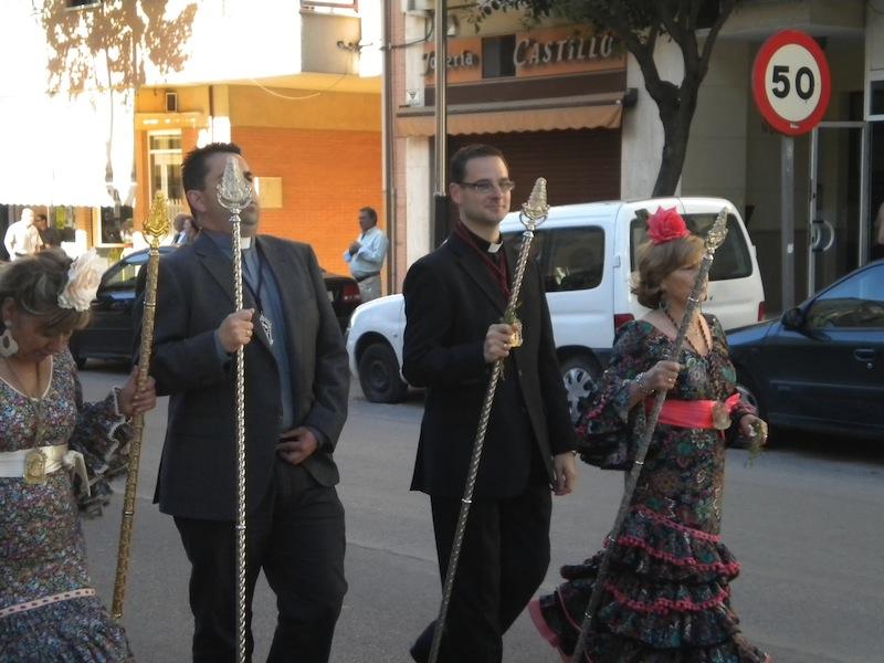 Hermana Mayor, Capellán, Pregonero y Presidenta de izquierda a derecha