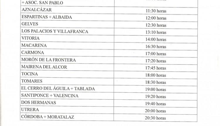 Cruce por Coria, Vado de Quema, Sanlucar, y Villamanrique  el jueves 24 de mayo 2012