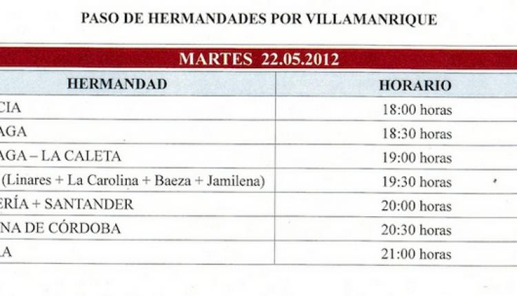 Cruce por Coria, Vado de Quema, Sanlucar y Villamanrique el martes 22 de mayo 2012