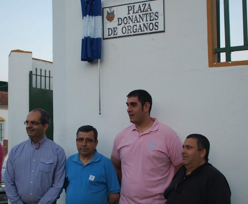 El alcalde y tres transplantados del ARAHAL