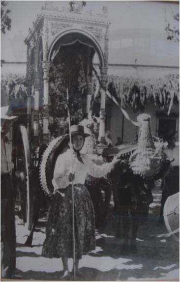 Antoñita Solís, en los años 1950