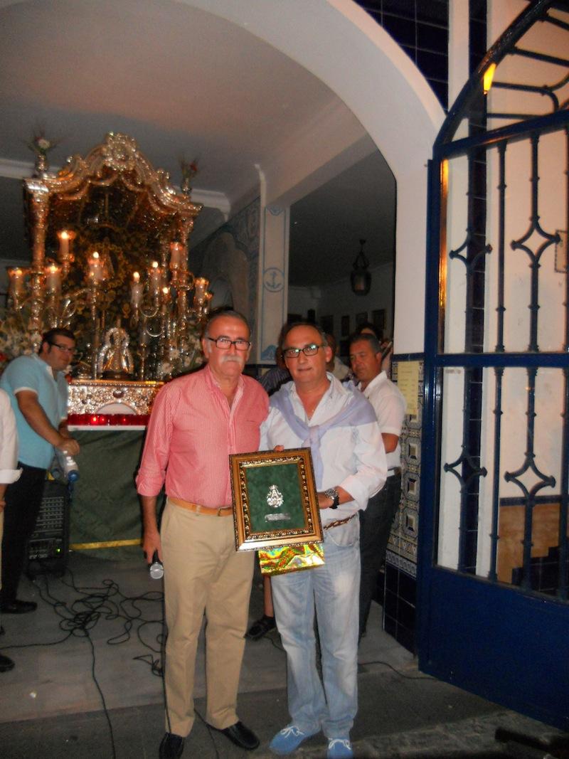 El Presidente de la Hermandad de Medina del Campo, Adolfo Marcos, con nuestro Presidente, Francisco Amorós