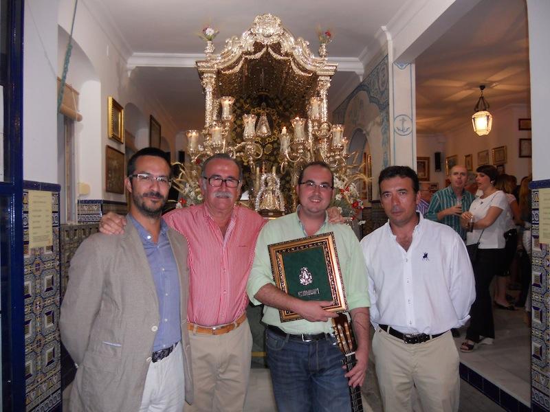Agustín Figuereo, Presidente del Consejo de Hermandades y Cofradías de Isla Cristina con Cayetano, nuestro Hermano Mayor y nuestro Presidente.