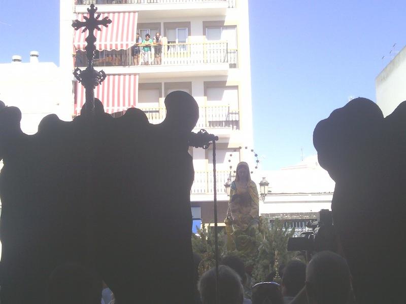 La Virgen del Mar con el Simpecado del Rocío