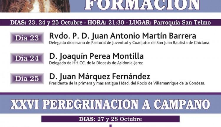 JUAN MÁRQUEZ FERNÁNDEZ PRONUNCIARÁ UNA CONFERENCIA SOBRE EL ROCÍO EN CHICLANA DE LA FRONTERA.