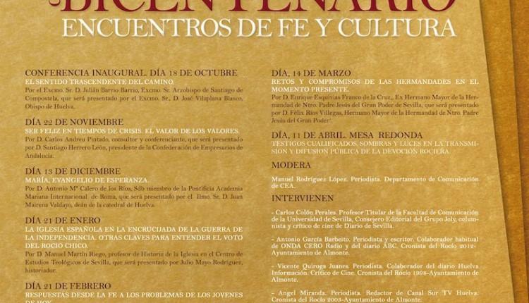 CONFERENCIA DEL CICLO MENSAJEROS DEL BICENTENARIO. ENCUENTROS DE FE Y CULTURA