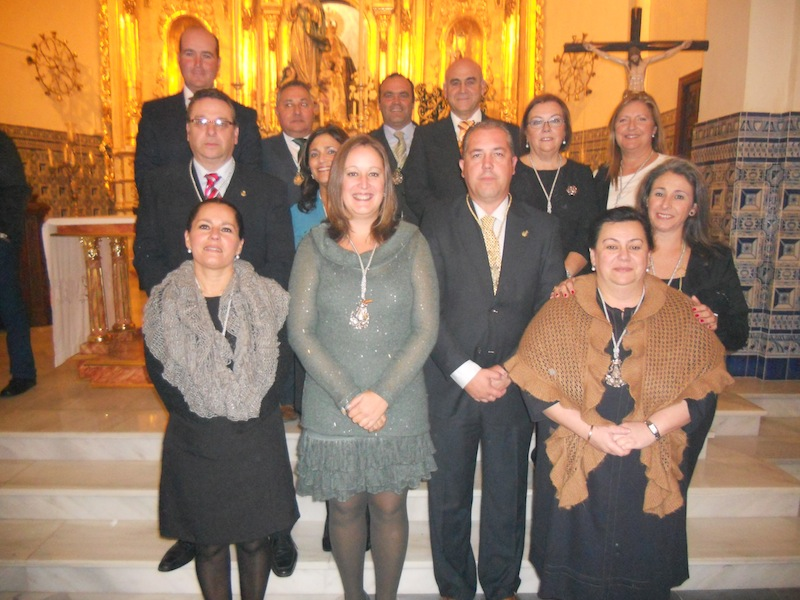 Foto oficial de la Junta de Gobierno de la Hermandad de Nuestra Señora del Rocío de Isla Cristina
