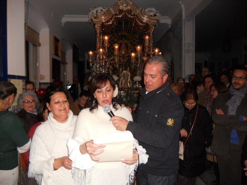 La representante del Coro de la Peña Cultural Flamenca