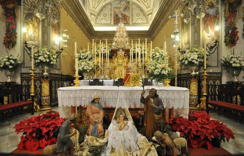 Foto de Manuel Romero del Belén en la parroquia de la Asunción de Almonte