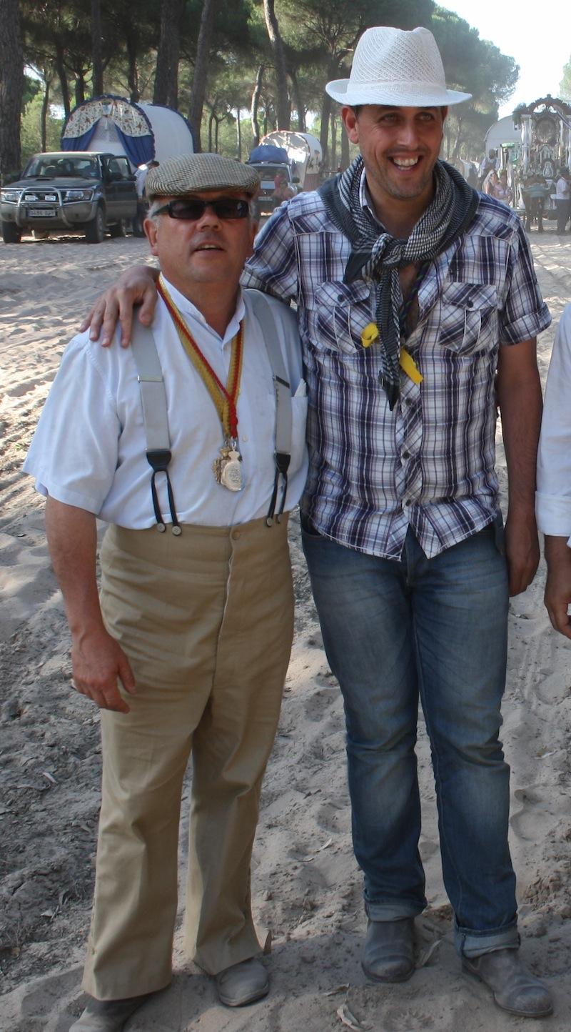 Con el Hno. Mayor de Ronda, Juan Martín Malet