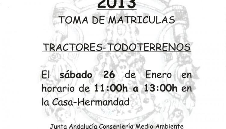 Hermandad de Umbrete – Toma de matriculas para la peregrinación 2013.