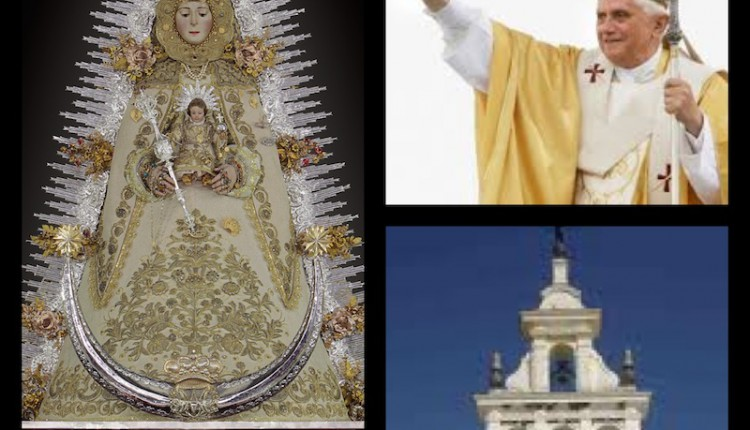 Repique de campanas en El Rocío homenaje a Benedicto XVI