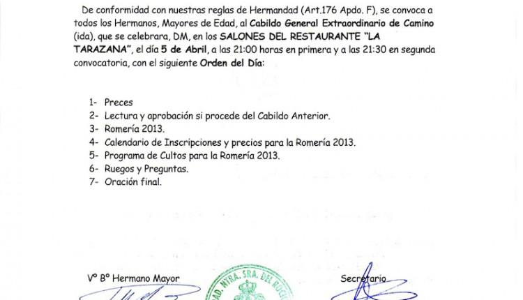 Hermandad de Mairena del Aljarafe – Cabildo de Camino de Ida