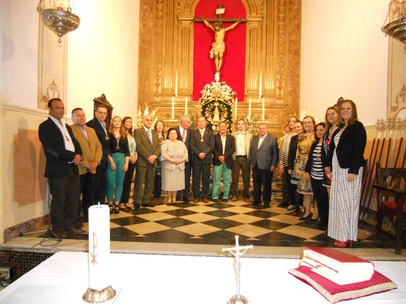 Foto de familia donde están las Juntas de Gobierno de Villarrasa e Isla Cristina