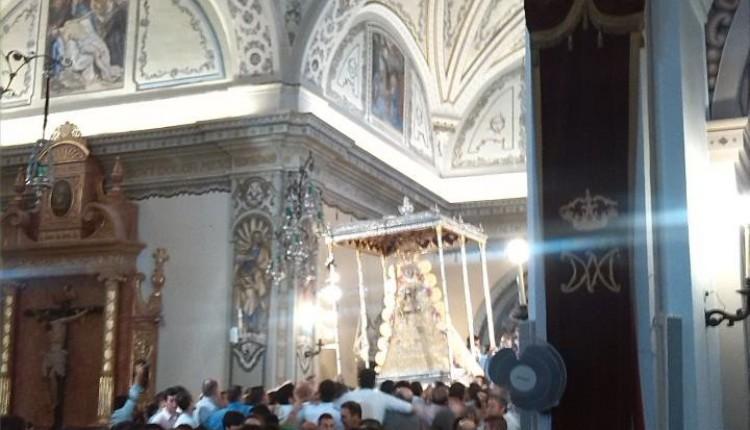 ¡¡Ya está la Virgen en las calles de Almonte!!