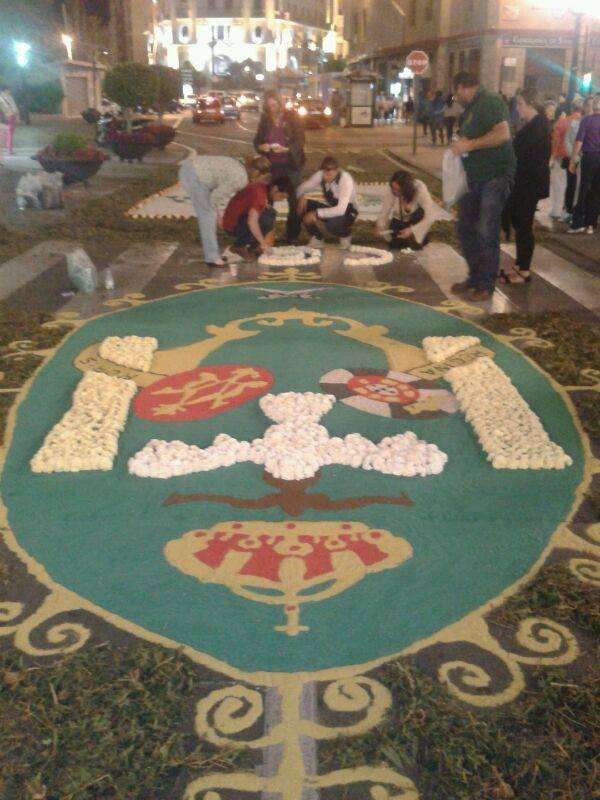 Alfombra de la Hdad. de Ceuta (Facebook Ceuta)